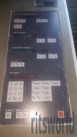 Komori Lithrone 428, 1990 Offset Printing Machine