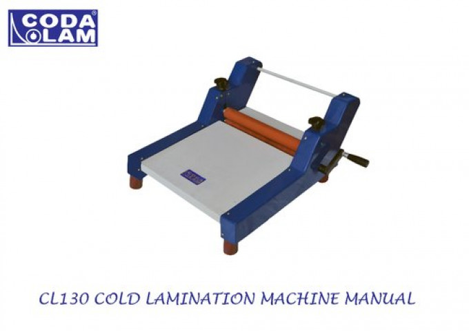 Cl130 Cold Lamination Machine Manual