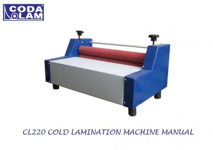 CL220 Cold Lamination Machine Manual