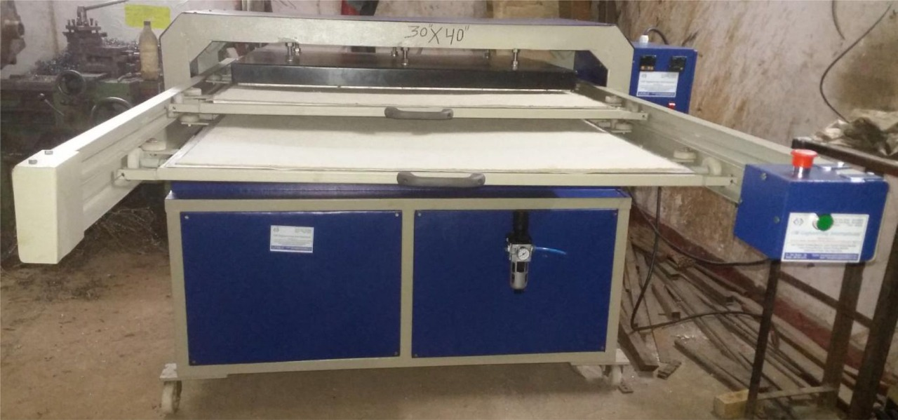 Automatic Double Bed Jumbo Heat Press Machine EM - 3040ADB