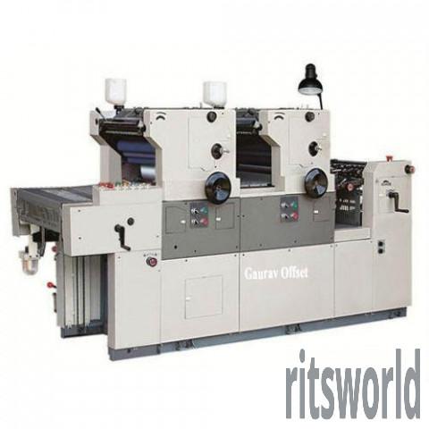 Two Colour Nonwoven Bag Offset Printing Machine