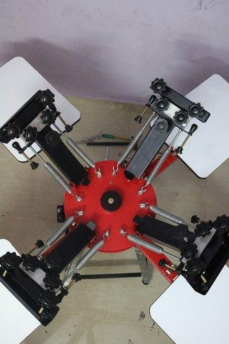 4 Color 4 Station 360 Micro Screen Printing Machine