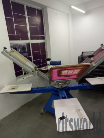 4 Station 4 Color Screen Printing Machine