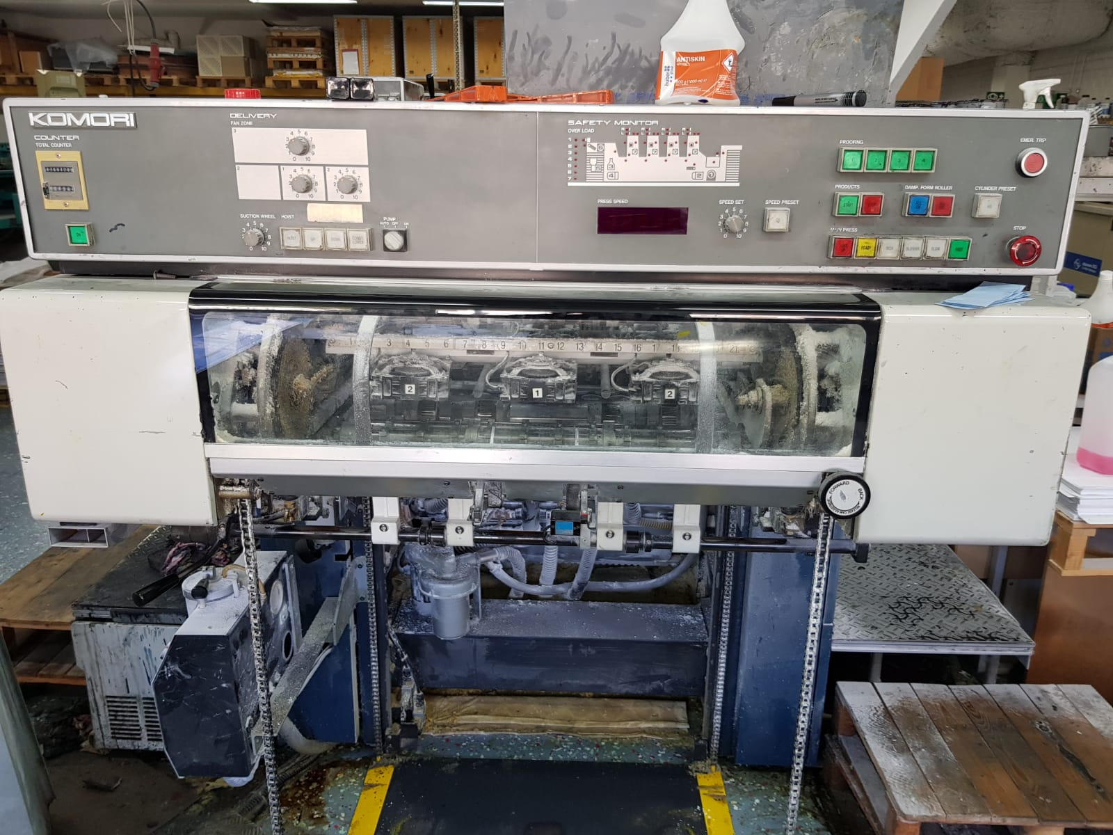 Used Komori Lithrone 426, 1990